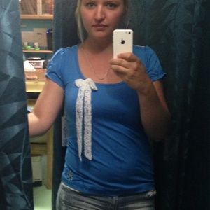 Short sleeve lace top combo blue